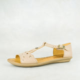 Venge : Ladies Leather Sandal in Canna Cayak