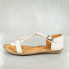 Fuyiwe : Ladies Leather Sandal in Cream Cayak