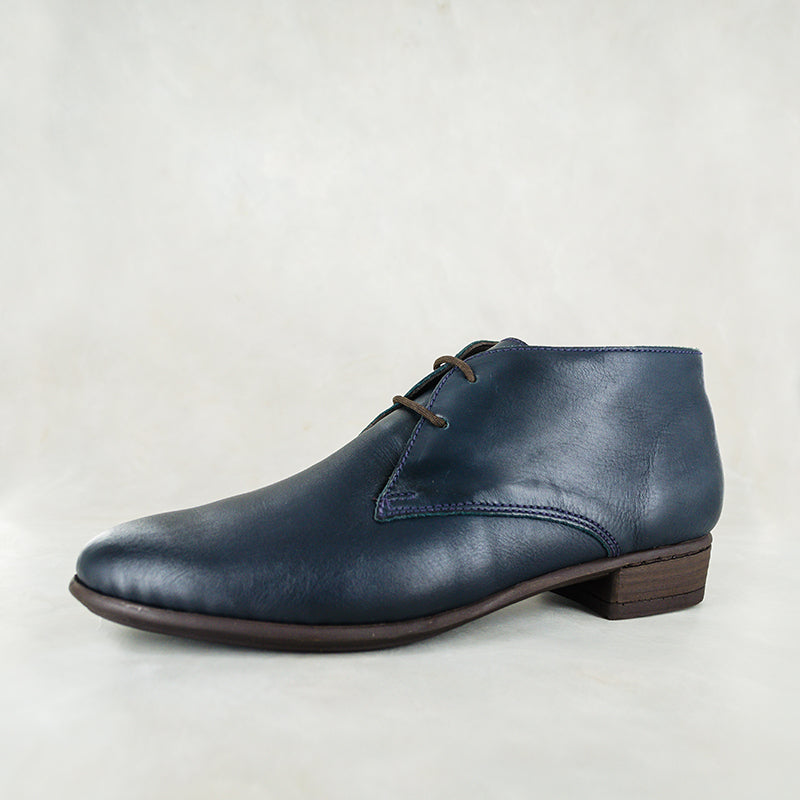 Sizayo : Ladies Leather Boot in Navy Relaxa