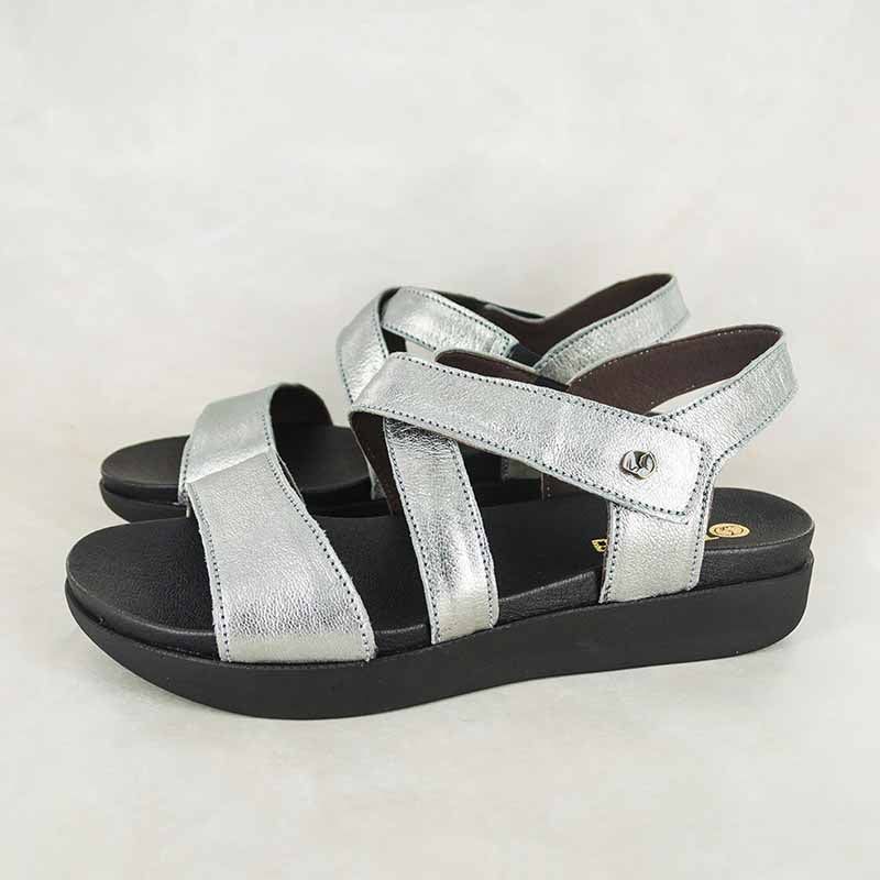 Itshali : Ladies Leather Sandal in Tallio Grid