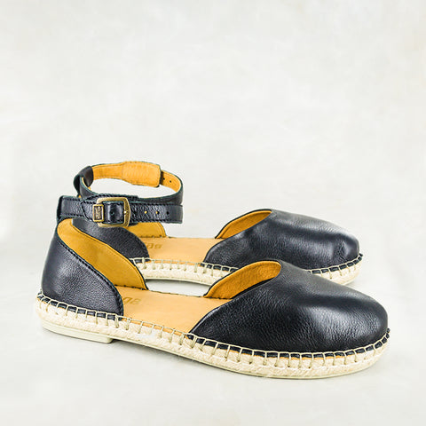 Bungazo : Ladies Leather Sandal in Denim Cayak