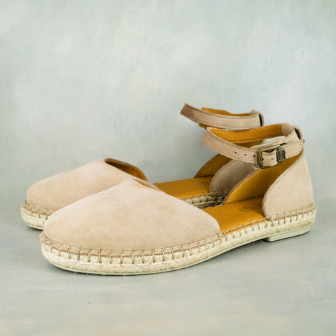 Ukubasa : Ladies Leather Slip-On Espadrille in Highrise Vintage