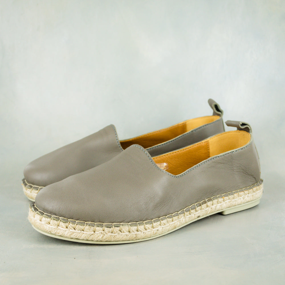 Indzima : Ladies Leather Espadrille Shoe in Griffin Cherrie Nappa
