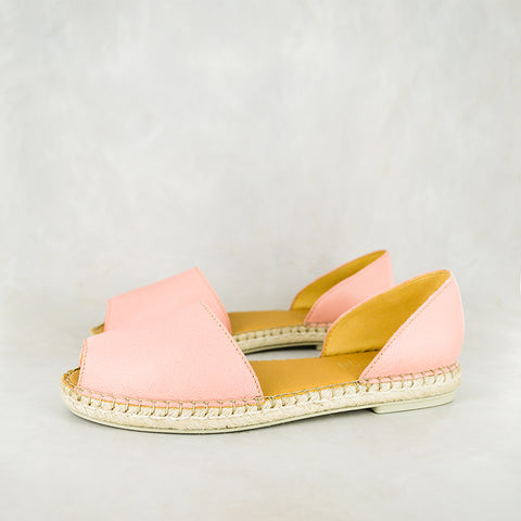 Ganandela : Ladies Leather Espadrille Sandal in Papaya Cayak Sale