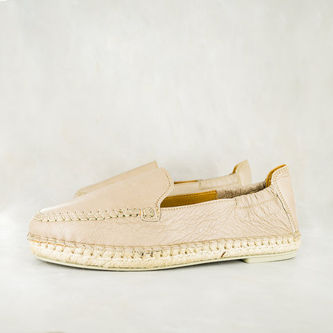 Badinga : Ladies Leather Espadrille Shoe in Smoke Berlino