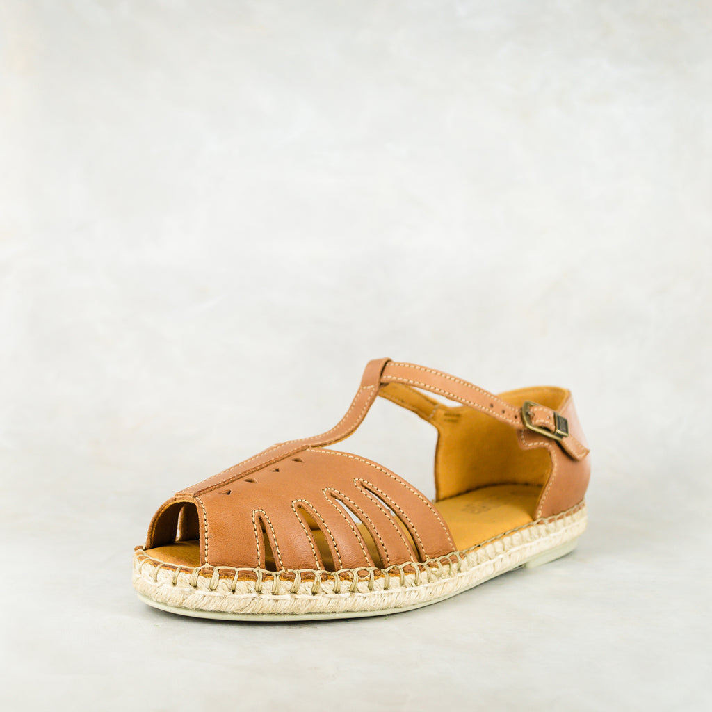 Kubelula : Ladies Leather Espadrille Shoe in Hazel Relaxa