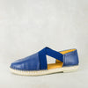 Jankomo : Ladies Leather Espadrille Shoe in Denim Vintage