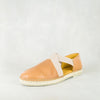 Jankomo : Ladies Espadrille Leather Shoe in Tan Vintage