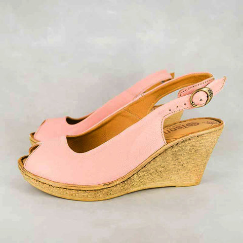 Kangcono : Ladies Leather Sandal in Rose Cayak Sale