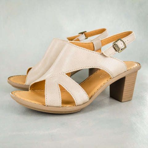 Zangemuva : Ladies Leather Peep-Toe High-Heeled Wedge Sandal in Cinder Galaxy