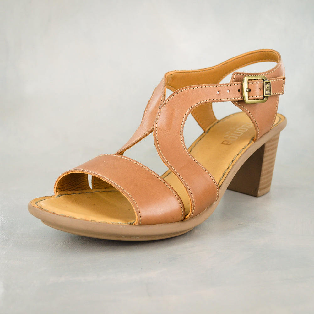 Umkhizo : Ladies High-Heeled Leather Sandal in Hazel Relaxa