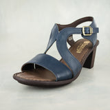 Umkhizo : Ladies High-Heeled Leather Sandal in Navy Relaxa