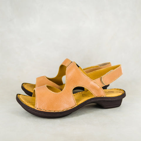 Profeta : Ladies Leather Push-in Shoes in Gravel Vintage Sale