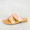 Isivinia : Ladies Leather Sandal in Papaya Cayak Sale