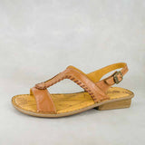 Wiliza : Ladies Leather Sandal in Hazel & Sable Relaxa