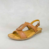 Wiliza : Ladies Leather Sandal in Hazel & Sable Relaxa Sale