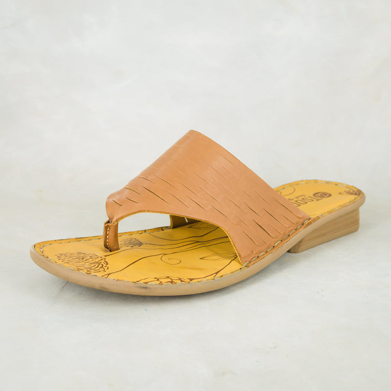 Umdweshu : Ladies Leather Sandal in Hazel Relaxa Sale