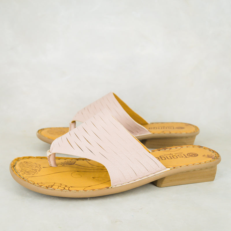 Umdweshu : Ladies Leather Sandal in Rose Cayak