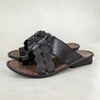 Isenzelelo : Ladies Leather Sandals in Black Cayak