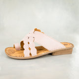 Isenzelelo : Ladies Leather Sandals in Rose Cayak