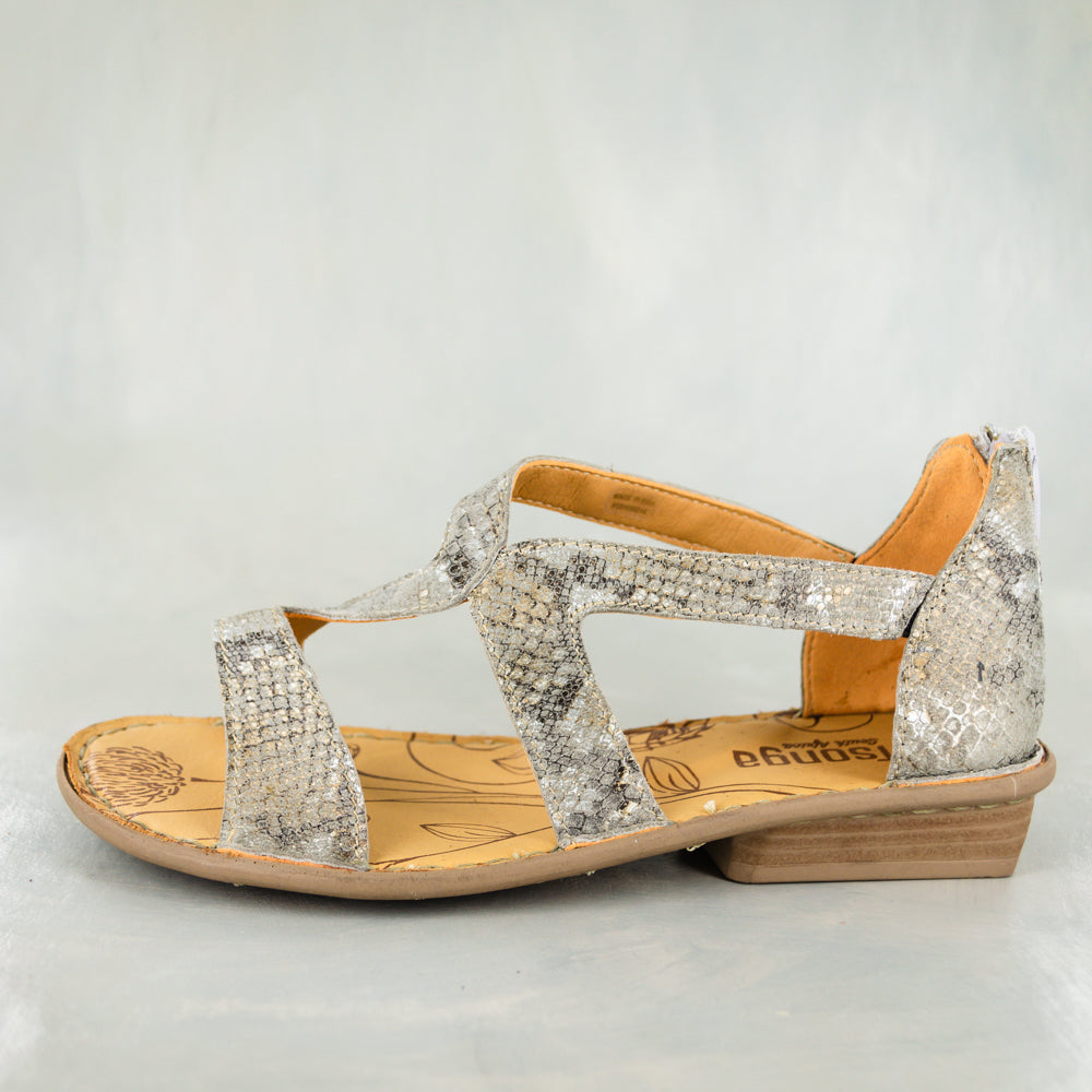 Namadwala : Ladies Leather Sandal in Opal Rockafella