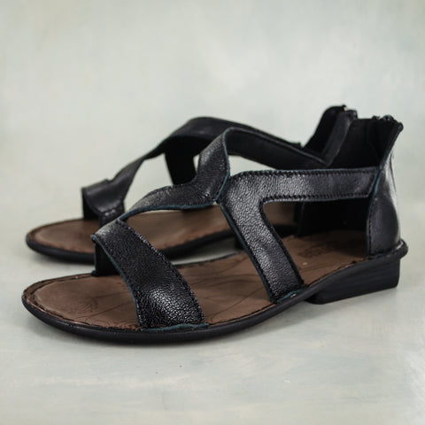Chazayo : Ladies Leather Tslops Sandal in Tallio Grid