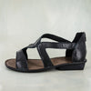 Namadwala : Ladies Leather Sandal in Black Cayak