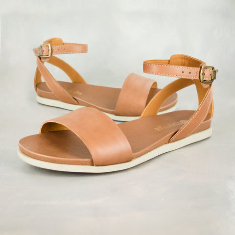 Ganandela : Ladies Leather Espadrille Sandal in Cinder Galaxy