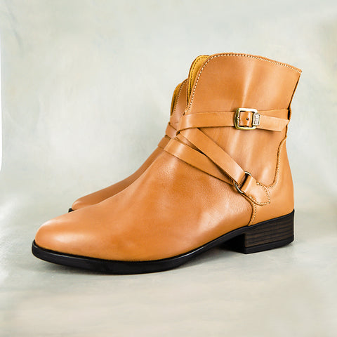 Dungamu : Ladies Leather Boots in Choc Relaxa Sale
