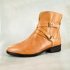 Yenyele : Ladies Leather Ankle Boot in Hazel Relaxa