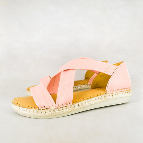 Baqaza : Ladies Leather Tslops Sandal in Valentino Cayak