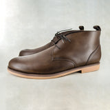 Teboho : Mens Leather Boot in Choc Rodeo