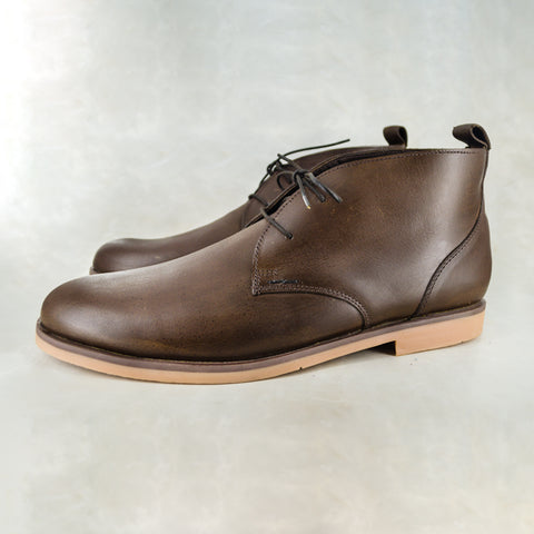 Vilakazi : Mens Leather Formal Shoe in Black Relaxa