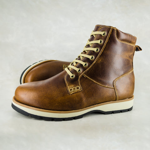 Umfowabo : Mens Leather Boot in Brown Carvano Sale