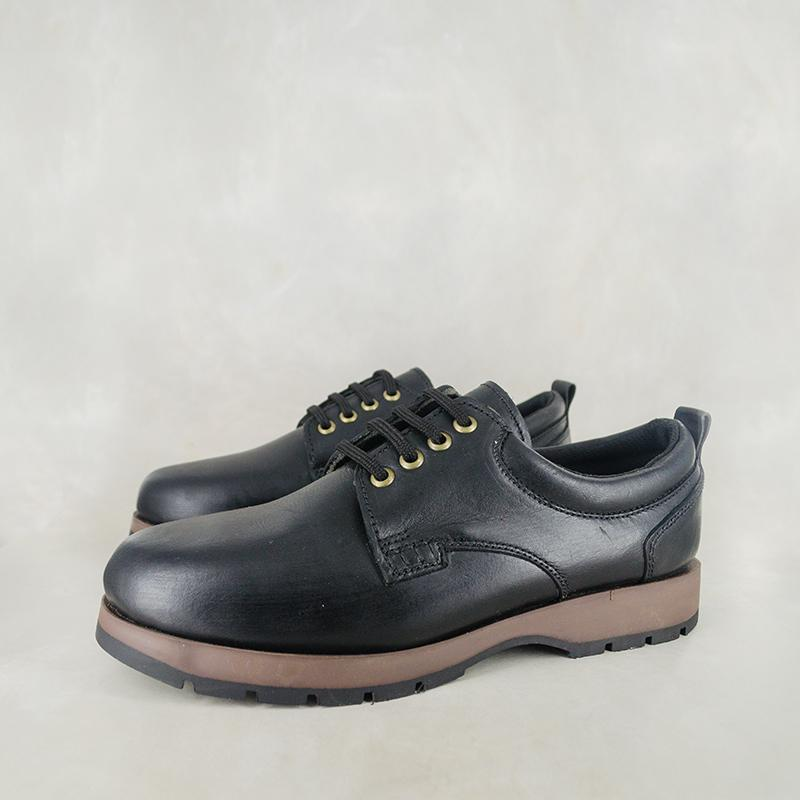 Hulumeni : Men's Leather Shoes in Black Rodeo sale