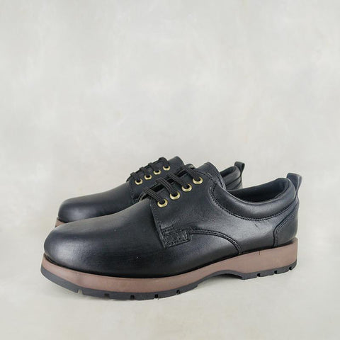 Ngubani : Mens Leather Shoe in Black Relaxa Sale