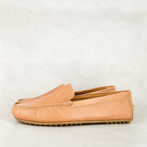 Phazima : Mens Leather Slip-On Shoe in Marine Buff Burn
