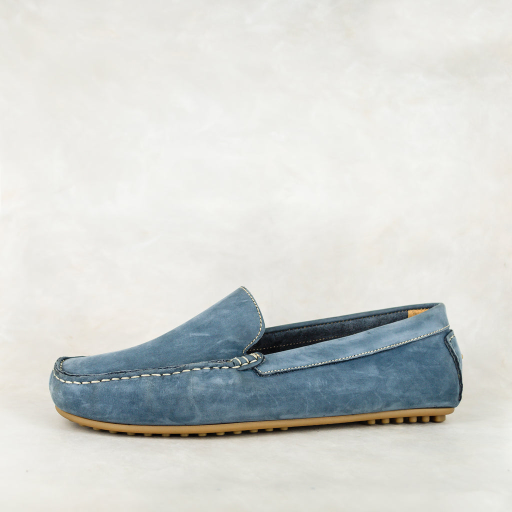 Isijeziso : Men's Leather Shoe in Navy Nubuck
