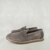 Lacuka : Mens Leather Shoes in Choc Nubuck