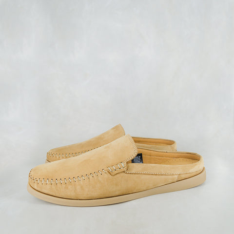 Exwaya : Mens Leather Boat Shoe in Navy Nubuck