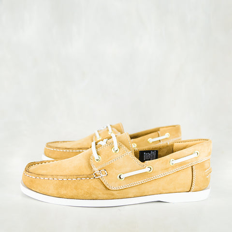Thami : Mens Leather Boat Shoe in Choc Tempest Sale