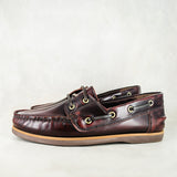 Nokusiza : Men's Leather Boat Shoe in Courdavan Fiesta
