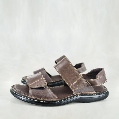 Banakho : Mens Leather Moccasin in Black Delta