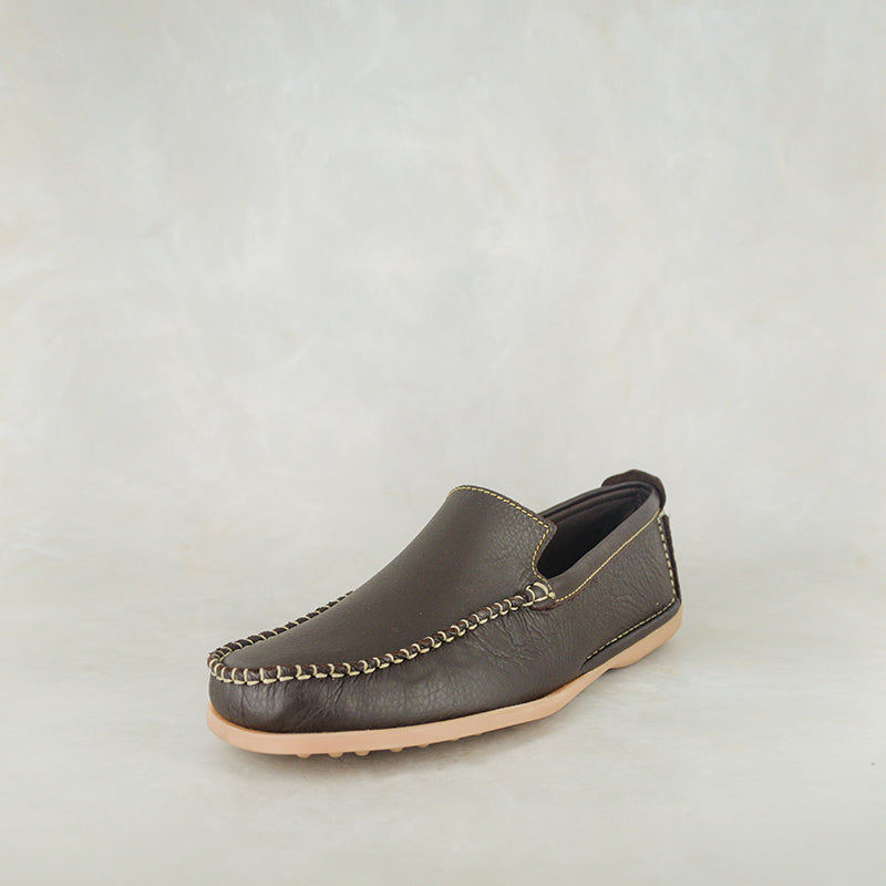 c952a6a5434 Banakho : Mens Leather Moccasin in Choc Delta