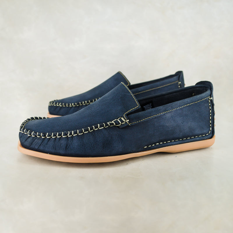 1fbeb5ddd864c Insonga : Mens Leather Moccasin in Marine Buff Burn
