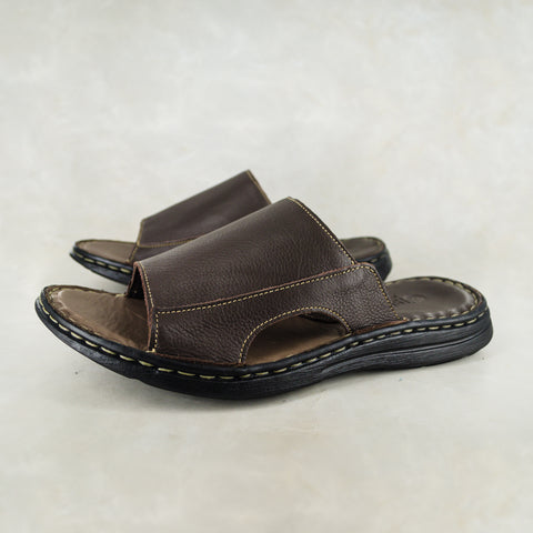 Umhlanga : Mens Leather Tslops Sandal in Grey Delta Sale