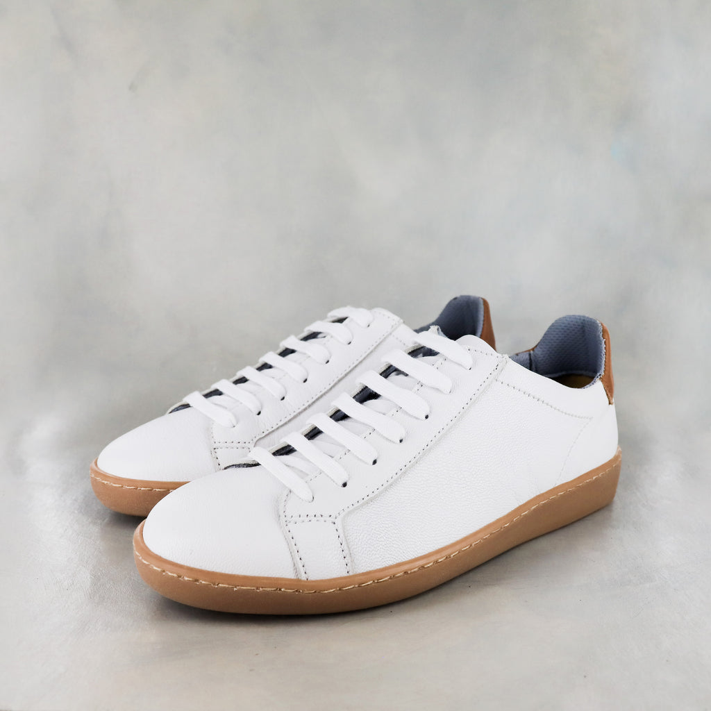 Umpendi : Ladies Leather Sneaker in White Cayak