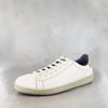 Umpendi : Ladies Leather Sneaker in Cream Milled Waxy