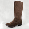 Yisimanga : Ladies Suede Boot in Choc Madrid