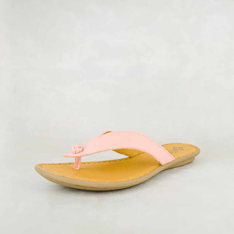 Ishadi : Ladies Leather Tslops Sandals in Papaya Cayak